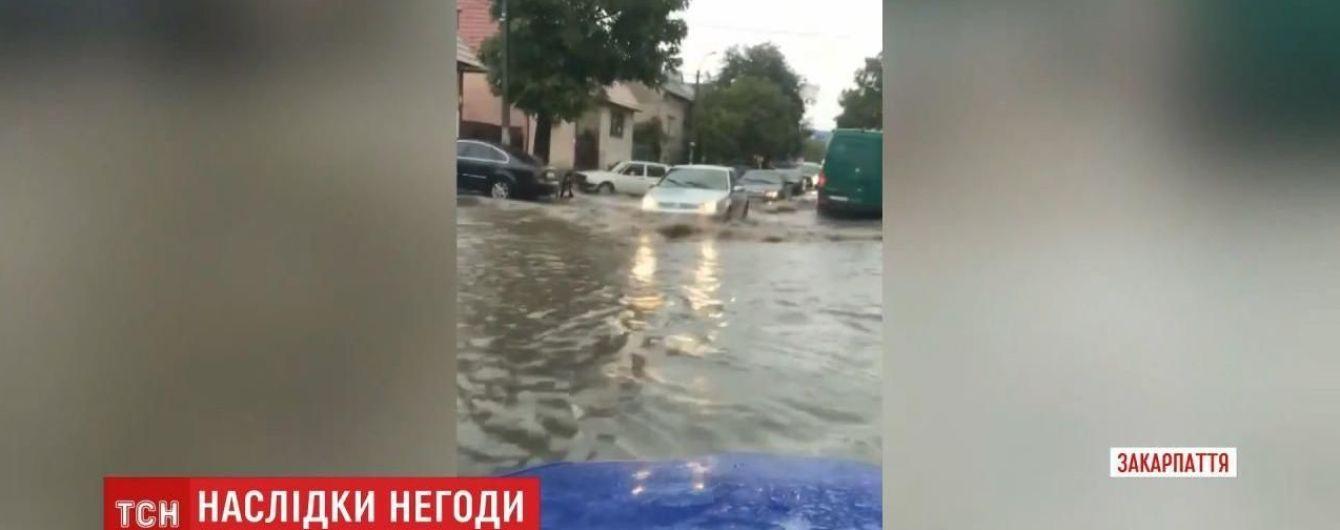 Мощный ливень накрыл Закарпатье: повреждены мосты и линии электропередач, повалены деревья