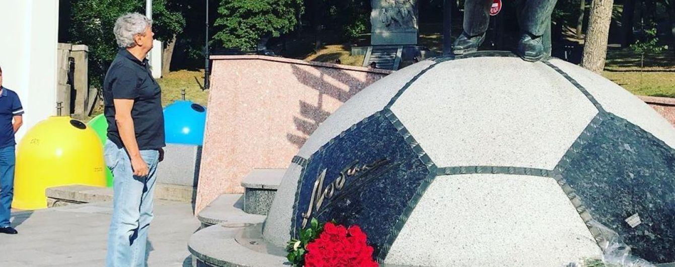 Луческу прилетел в Киев и сходил к памятнику Лобановскому