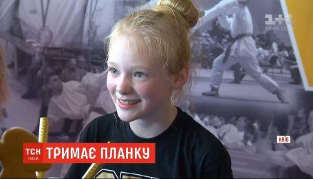 11-летняя девочка установила рекорд планки на локтях среди детей