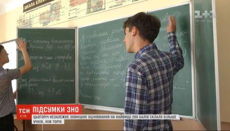 По итогам ВНО-2020, отличников в Украине увеличилось в полтора раза