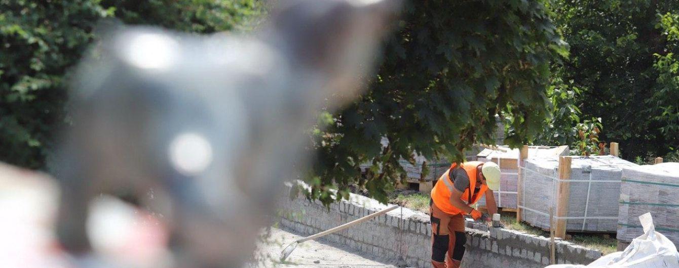 У Києві почалася реконструкція Пейзажної алеї: розширять вхід і підсвітять артоб'єкти