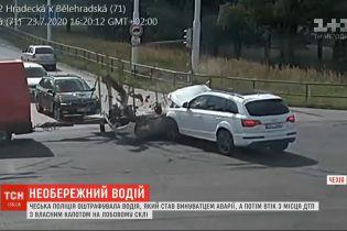 Чеська поліція оштрафувала винуватця аварії, який утік з місця ДТП