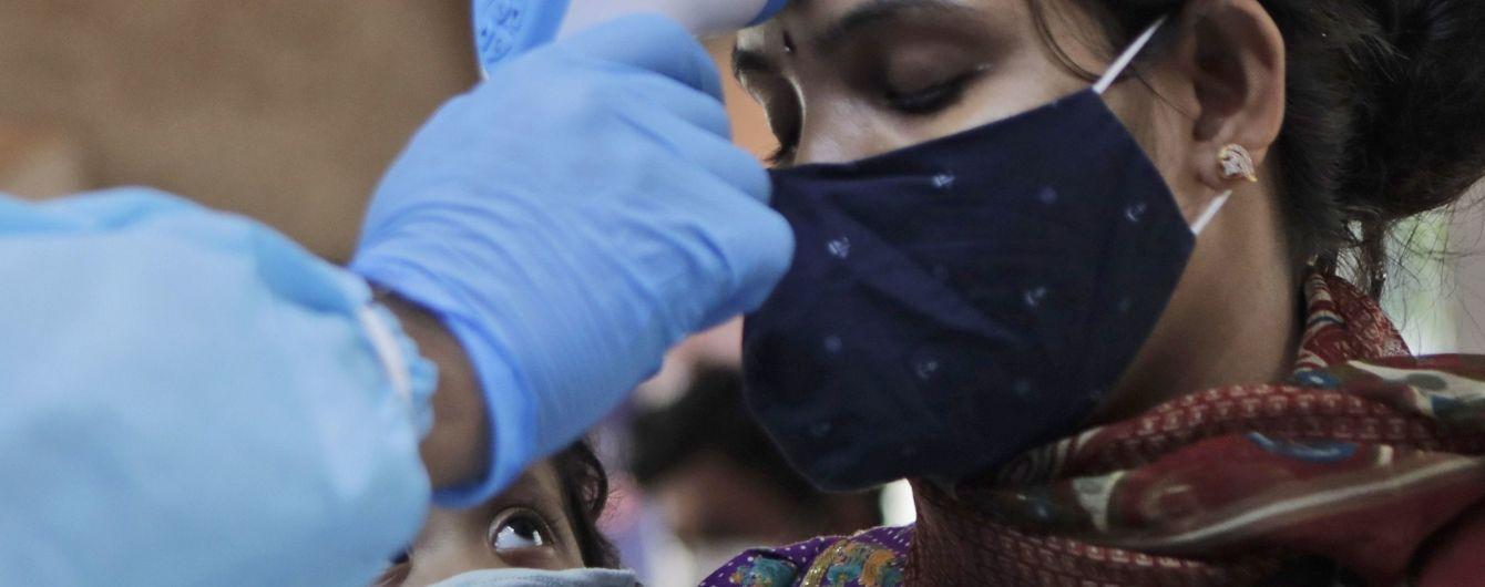 В Індії зафіксували світовий антирекорд за добовою кількістю випадків зараження коронавірусом