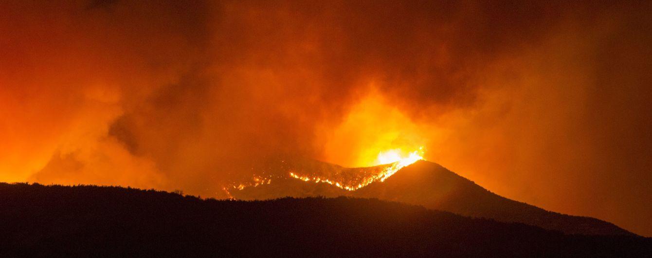 В Калифорнии вспыхнули масштабные лесные пожары: почти 8 тысяч человек эвакуировали