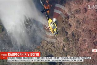 Пожары в Калифорнии: в огне уже более 10 тысяч гектаров леса