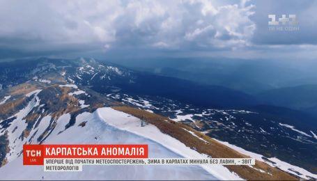 Аномалия в Карпатах: за зимний сезон не зафиксировали ни одного схода лавины