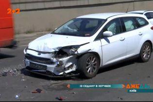Аварія на Дарницькому мосту спричинила величезний затор