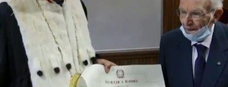 Італієць закінчив університет у 96 років та планує вступати на магістратуру