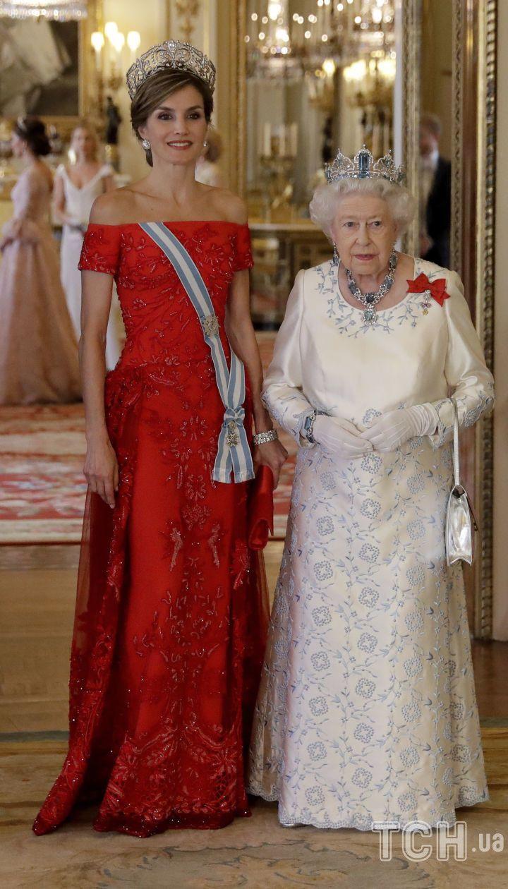 Королева Летиция и королева Елизавета II