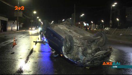На столичной трассе произошла авария с многочисленными перебрасываниями