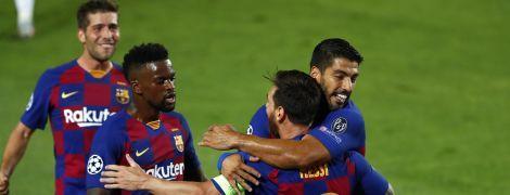 """""""Барселона"""" впевнено розібралася з """"Наполі"""" на шляху до чвертьфіналу Ліги чемпіонів"""