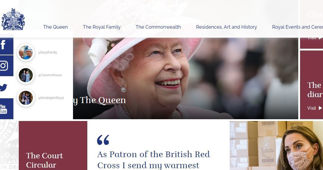 Сайт британской королевской семьи