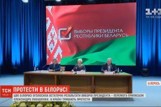 У Білорусі оголосили остаточні результати виборів