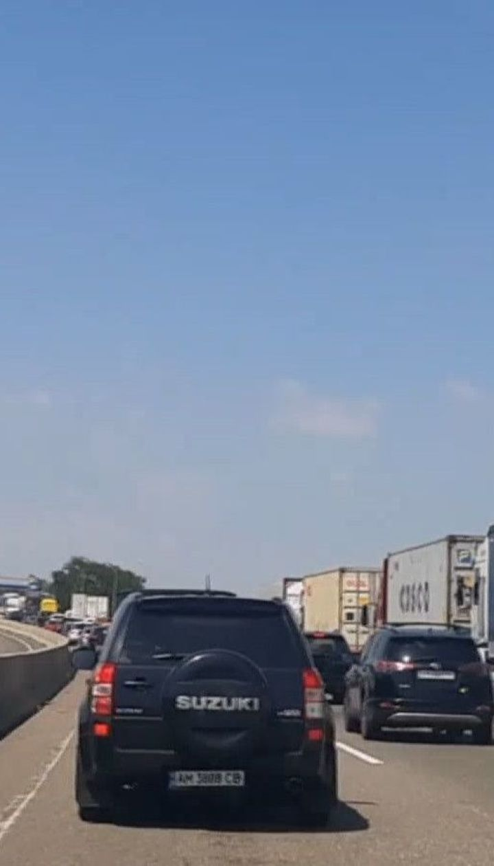 """На трассе """"Киев-Одесса"""" образовались километровые пробки"""