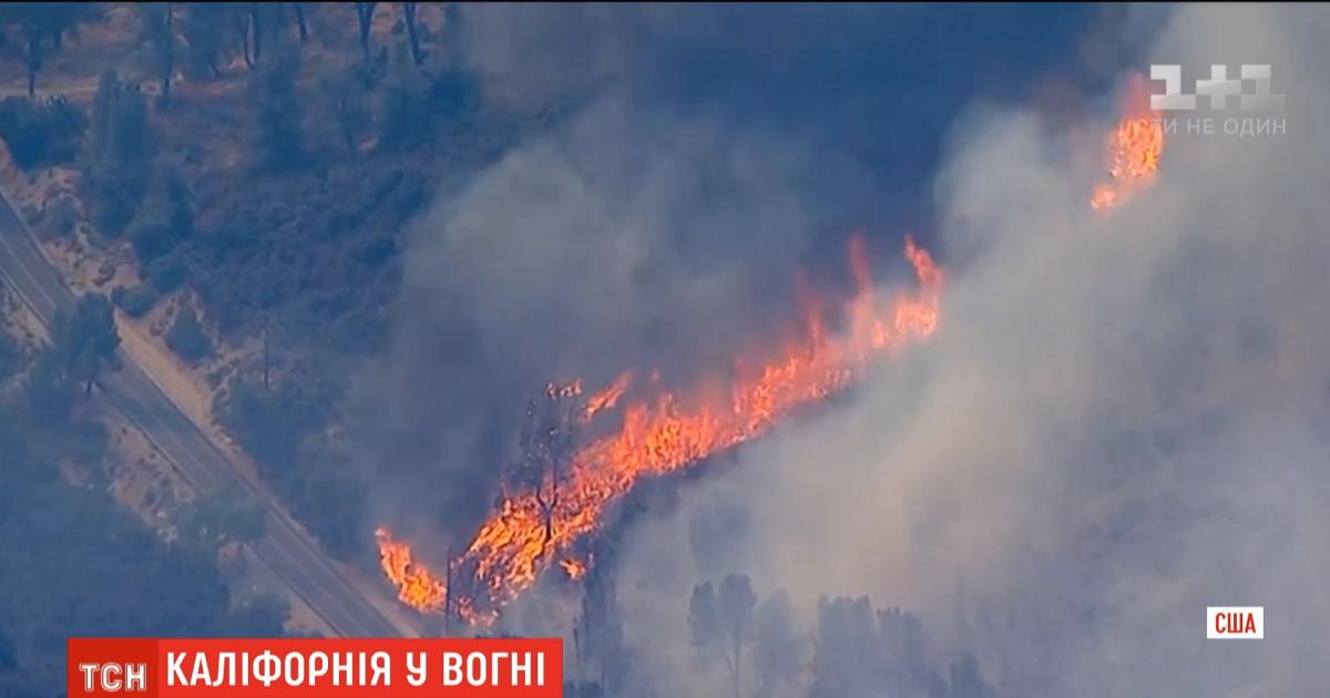 В зоне риска почти 5 тысяч зданий: в Калифорнии за сутки втрое увеличилась площадь пожаров