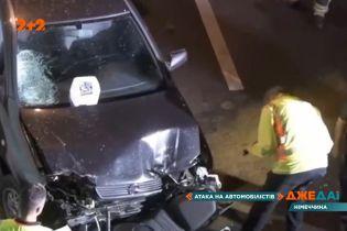 В Германии водитель пошел на таран авто на одной из главных улиц