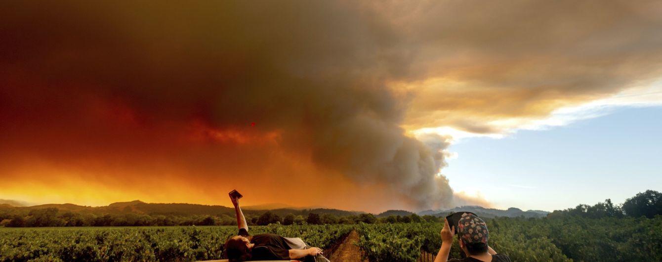 Лісовіпожежі у Каліфорнії забрали життя п'ятьох осіб