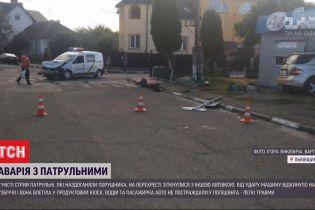 В городе Стрый патрульные догоняли нарушителя, но на перекрестке столкнулись с другой машиной