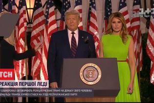 Соцмережами розлетілося відео реакції Меланії Трамп на доньку свого чоловіка