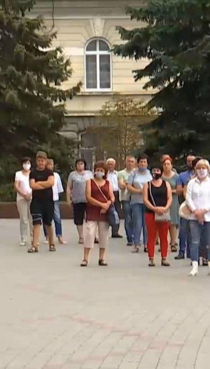 В Івано-Франківську відбувся мітинг проти посилення карантину