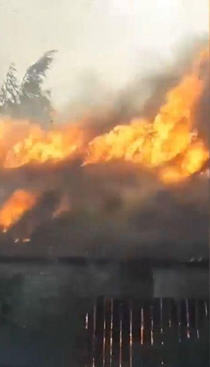 У Харківській області горить 400 гектарів лісу та 20 гектарів території біля військової частини