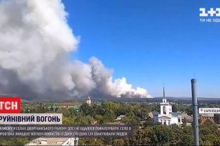 В Харьковской области неконтролируемое пламя разрушило село и выжгло сотни гектаров леса