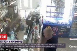 У Рівненській області чоловік розтрощив вітрину крамниці через зауваження надягнути маску