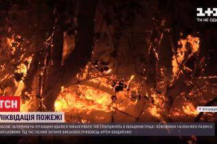 Пожар в Луганской области удалось локализовать