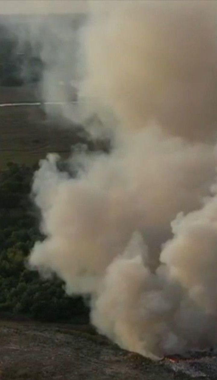 В двух областях Украины горят свалки