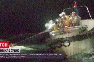 Возле Японии потерялся корабль с экипажем и тысячами животными
