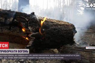 Сильный ветер не дает ликвидировать лесной пожар в Харьковской области