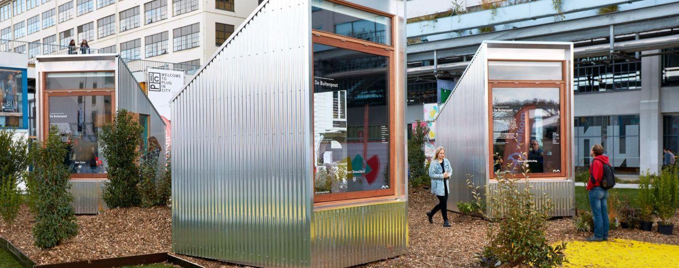 Пандемический дизайн: в парках Нидерландов установили одноместные офисы