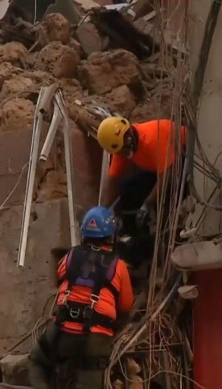 В Бейруте под завалами дома поисковая собака уловил признаки жизни