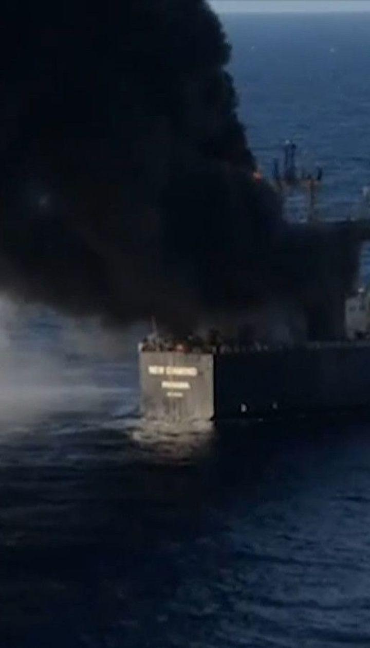 У побережья Шри-Ланки горит танкер с почти 3-мя сотнями тысяч тонн нефти