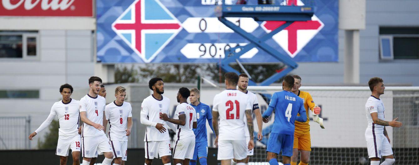Удаления, два пенальти и драма в компенсированное время: Англия с трудом одолела Исландию в Лиге наций