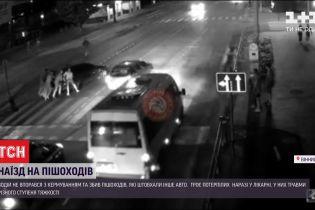 Влетів у натовп: у Вінниці троє людей постраждали під час аварії на нічній дорозі