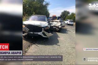 Аварія, що забрала 3 життя: у Дніпропетровській області лоб у лоб зіткнулися два авто