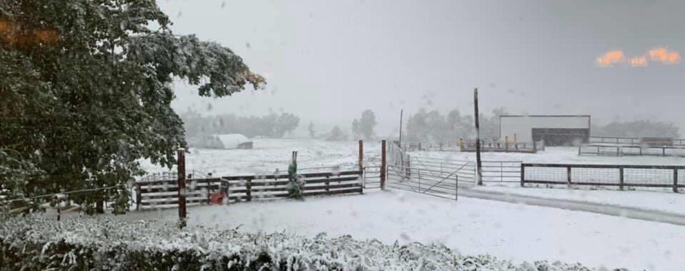 Аномальна погода: у Канаді після 30-градусної спеки раптово випав сніг