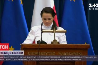 Дональд Туск предложил номинировать Тихановськую и ее мужа на Нобелевскую премию мира