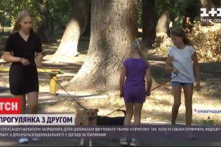 В приюте для животных в Кировоградской области детей учат ухаживать за четверолапыми