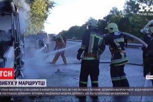 В Сумах взорвалась пассажирская маршрутка с водителем внутри
