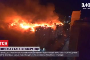 В Краснодаре горело 4 тысячи квадратных метров мансарды 8-этажки