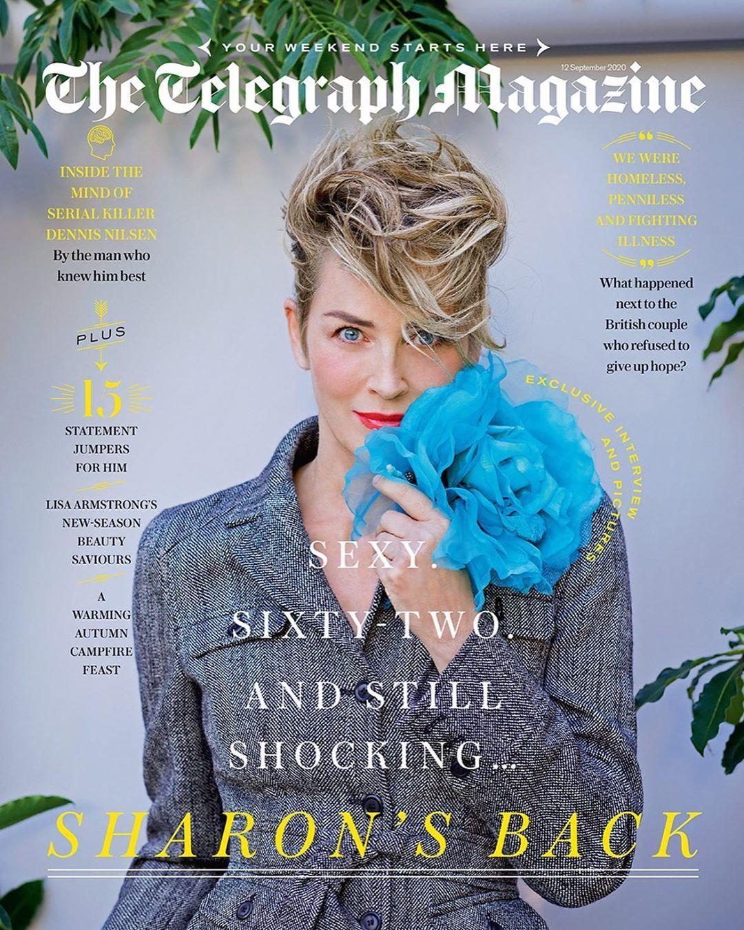 Шерон Стоун для The Telegraph Magazine_2