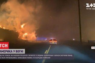 В лесных пожарах в США погибли по меньшей мере 33 человека, десятки тысяч - эвакуированы