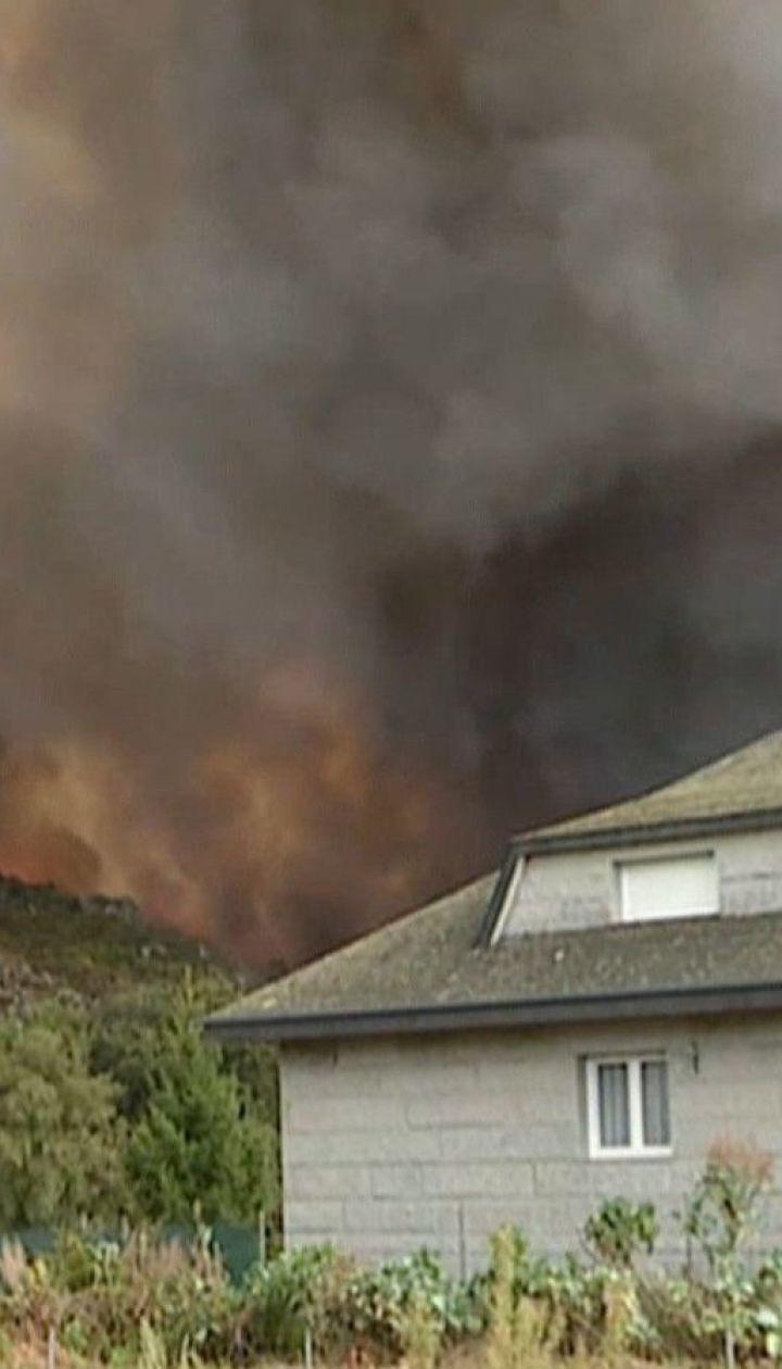Лесные пожары в Испании добрались до городов