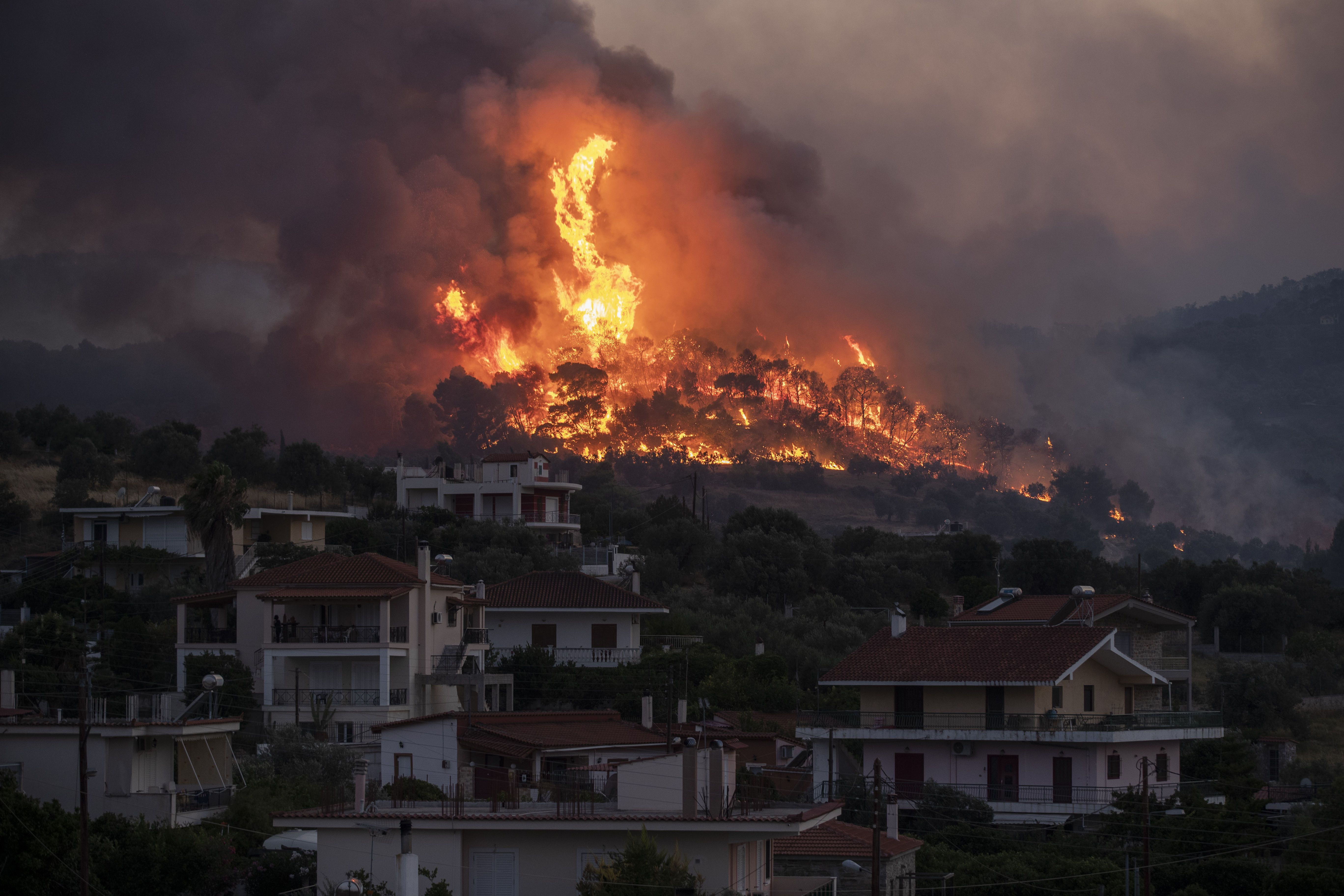Пожежі у Греції, липень 2020