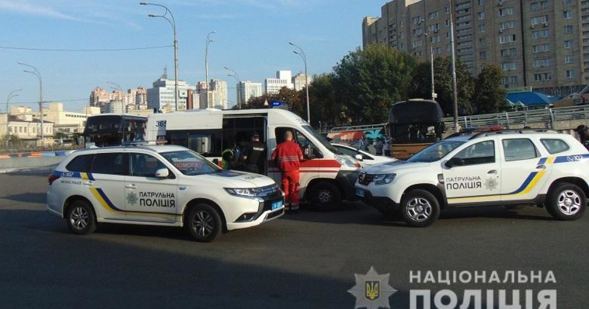 В Киеве на автовокзале избили полицейского