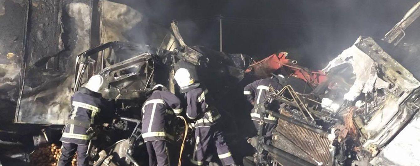 У Миколаївській області після зіткнення згоріли дві фури