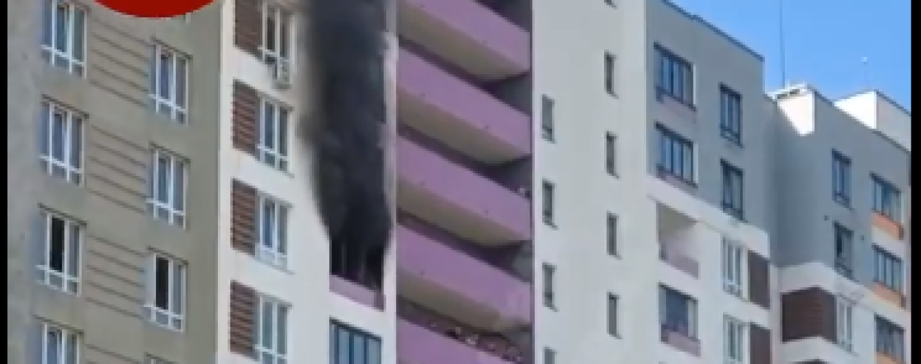В Вишневом под Киевом вспыхнула новостройка: появилось видео