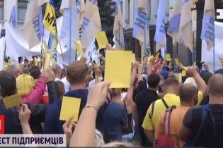 Желтая карточка власти: в столице частные предприниматели пикетируют правительственные здания
